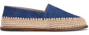 Queenie Suede And Raffia Slippers
