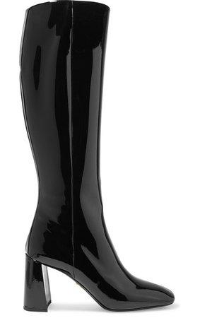 Prada | 85 patent-leather knee boots | NET-A-PORTER.COM