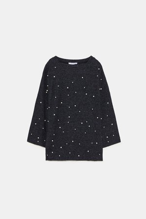 SOFT TOP WITH PEARLS - T-SHIRTS | ZARA United States
