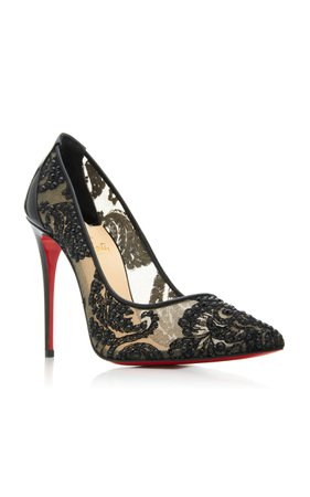 Exclusive Follies Embellished Mesh Pumps by Christian Louboutin | Moda Operandi