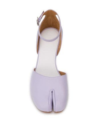 Purple Maison Margiela Tabi 40Mm Pumps | Farfetch.com