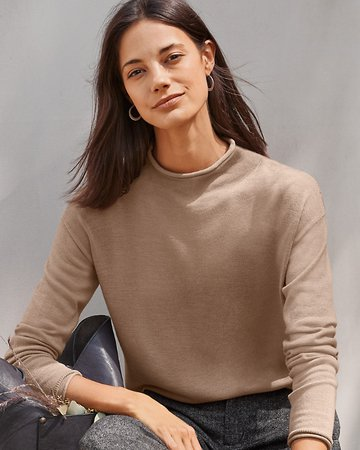 Essential Merino Funnel-Neck Sweater | Garnet Hill