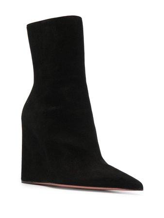 Amina Muaddi Pernille Wedge Ankle Boots - Farfetch