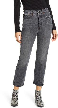 Wedgie High Waist Straight Leg Jeans