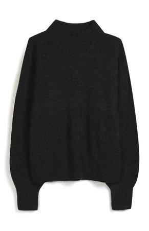 Primark - Pull noir côtelé à col roulé