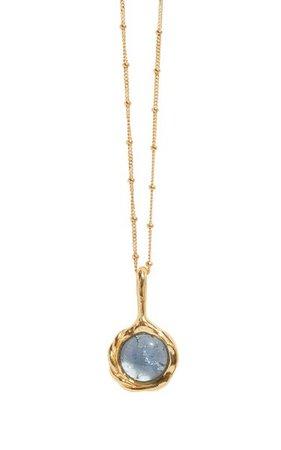 Gold-Plated Stone Pendant Necklace By Pamela Love | Moda Operandi
