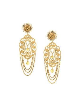 DOLCE & GABBANA filigree statement clip-on earrings