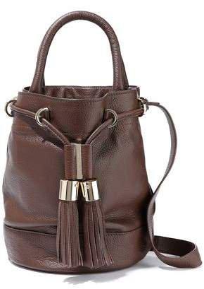 Textured-leather Bucket Bag