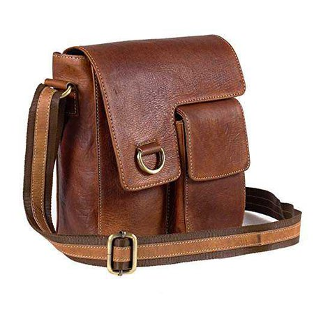 Goatter Leather Brown Messenger Bag: Amazon.in: Bags, Wallets & Luggage