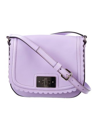 Kate Spade New York Leather Scalloped Crossbody Bag - Handbags - WKA108302 | The RealReal