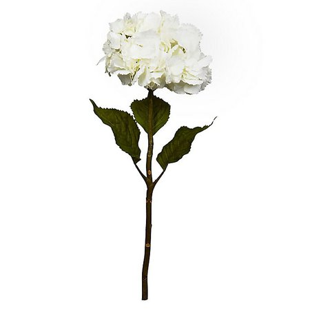 Nearly Natural 28-Inch Artificial Hydrangea Flowers in White (Set of 3) | buybuy BABY