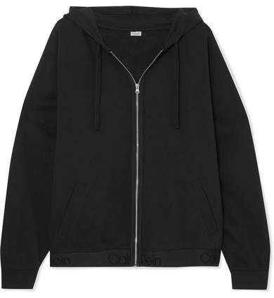 Cotton-blend Jersey Hoodie - Black