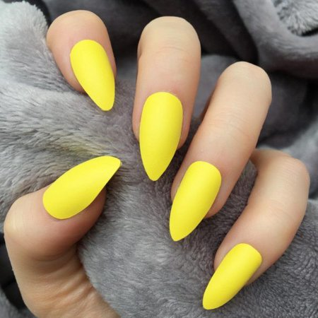 Yellow Matte – Doobys Nails