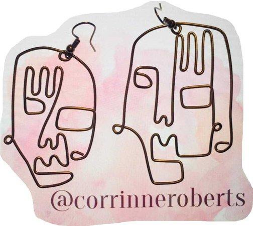 corrinneroberts on depop earrings