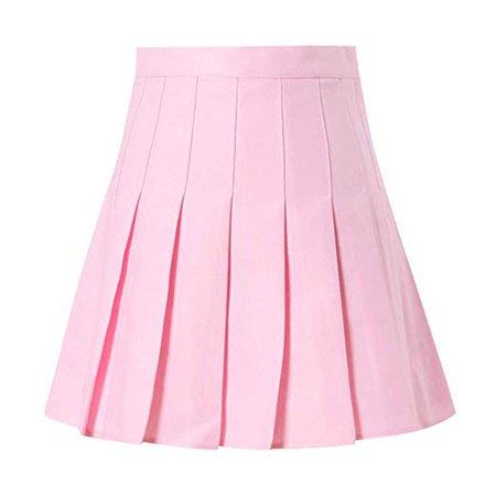 Amazon.com: Claystyle Women's Tennis Skirt Fashion High Waist Pleated Mini Skirt Slim Waist Casual School Skirt(Pink,US=XS): Clothing