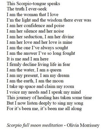 scorpio poem