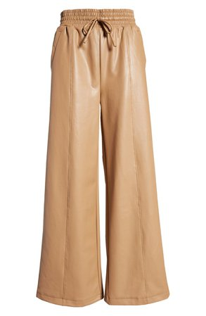 Faux Leather Wide Leg Pants | Nordstrom