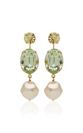 Meredith Swarovski and Pearl Earrings by Jennifer Behr | Moda Operandi