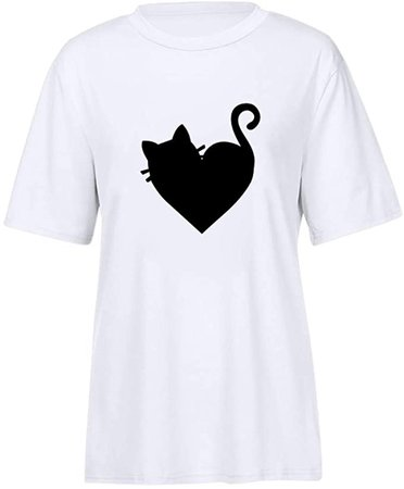 Cardigo Womens Summer Cute Print Tops Short Sleeve T-Shirts Blouse at Amazon Women's Clothing store