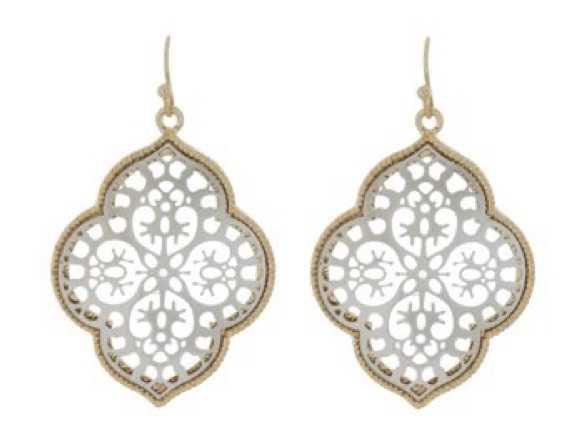 filigree drop earrings