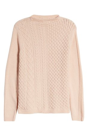 Caslon® Mixed Cable Knit Sweater   Nordstrom