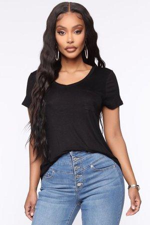 Nicole Short Sleeve Tee - Black – Fashion Nova