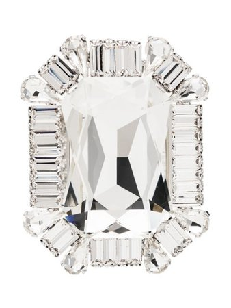 Alessandra Rich Square Crystal Clip Earrings - Farfetch