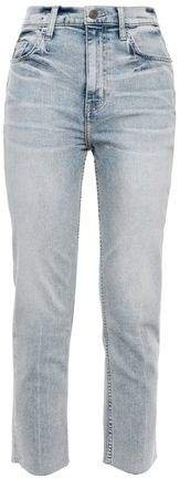 The Pipe Dream Cropped Faded High-rise Slim-leg Jeans