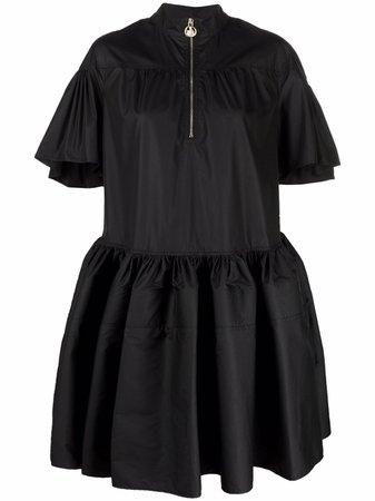 LANVIN zip-fastening ruffle-hem dress - FARFETCH