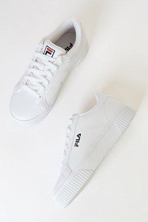 FILA Panache White - Platform Filas - Chunky Filas - White Filas - Lulus