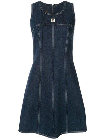 Fendi Pre-Owned Sleeveless Denim Dress Vintage | Farfetch.com