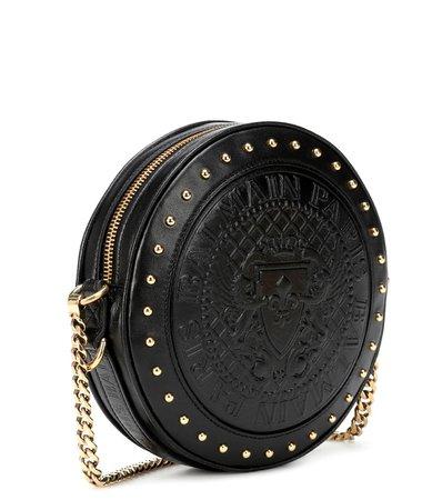 Balmain - Disco leather shoulder bag   Mytheresa