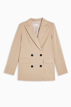 Suit Double Breasted Blazer | Topshop stone