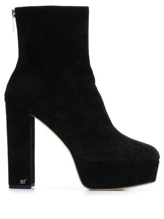 Sergio Rossi Square Platform Boots - Farfetch