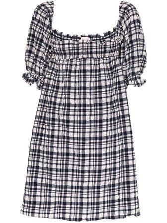 Solid & Striped Puckered Gingham Babydoll Dress Ss20 | Farfetch.com