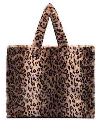 STAND STUDIO leopard-print Faux Fur Tote Bag - Farfetch