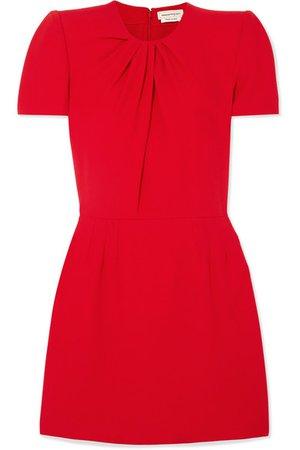 Alexander McQueen | Ruched crepe mini dress | NET-A-PORTER.COM