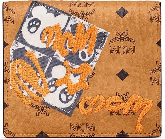 Berlin Bear Coated Canvas Wallet