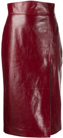 front slit high-waisted skirt