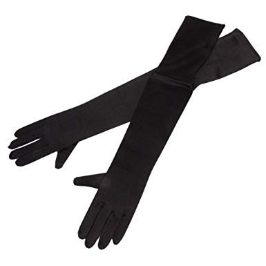 black long gloves - Google Search