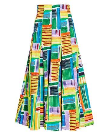 Alexis Velleta Abstract Midi Skirt   INTERMIX®