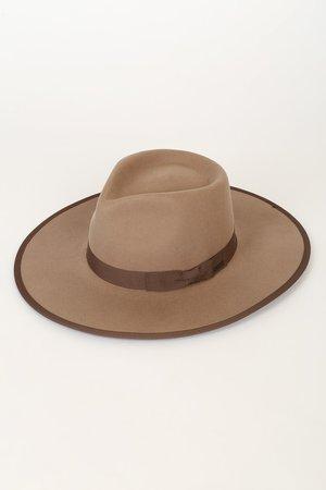 Brixton James Fawn - Taupe Hat - Fedora Hat - Boho Hat - Lulus