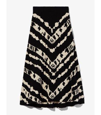 Proenza Schouler White Label Animal Jacquard Knit Skirt - ShopBAZAAR