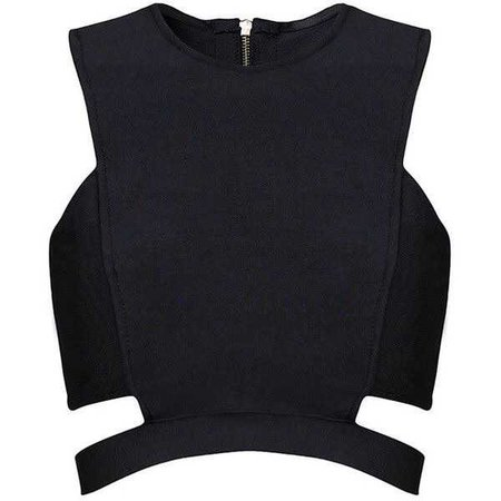 Posh Girl Black Cut Out Bandage Crop Top ($88)