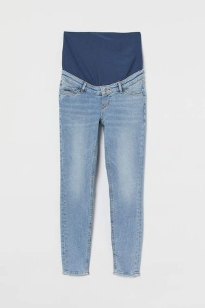 MAMA Embrace Ankle Jeans - Blue