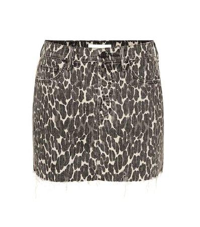 The Vagabond leopardprint denim miniskirt