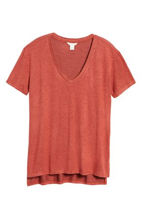 Caslon® Cass Women's High/Low V-Neck T-Shirt | Nordstrom