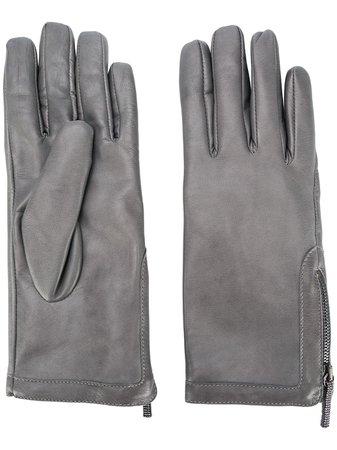 Fabiana Filippi Textured Side Zip Gloves - Farfetch