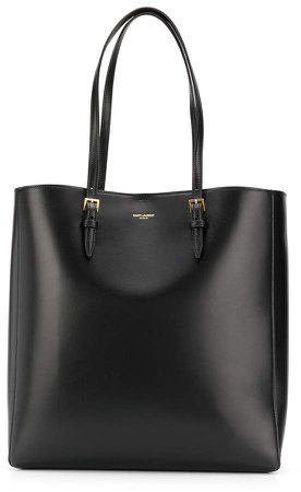 double handle leather tote bag