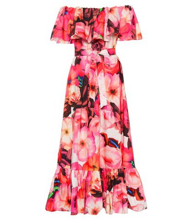 Floral cotton maxi dress